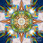 Prism Rainbow Mandala Art Print
