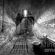 Prison Cell Black And White Art Print