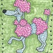 Prissy Poodle Art Print