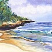Pristine Mahaulepu Beach Art Print
