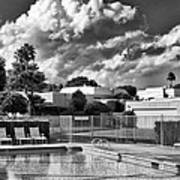 Pristine Pool Bw Marrakesh Palm Springs Art Print