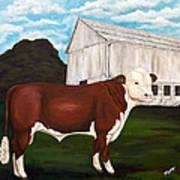 Prize Bull Print by Michelle Joseph-Long