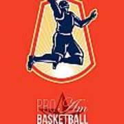 Pro Am Basketball Invitational Retro Poster Art Print by Aloysius Patrimonio