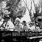 Pro-viet Nam War March Beaver's Band Box Musicians Tucson Arizona 1970 Black And White Art Print