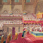 Procession Of The Dean And Prebendaries Of Westminster Bearing The Regalia, From An Album Art Print