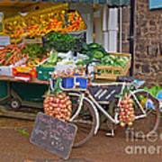 Produce Market In Corbridge Art Print