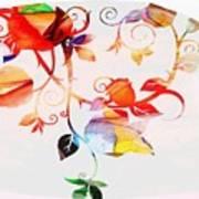 Profound Thought Rose Vine Art Print
