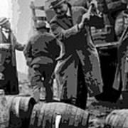 Federal Prohibition Agents Destroy Liquor 1923 Art Print