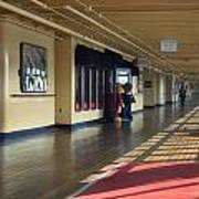 Promenade Deck Queen Mary Ocean Liner 01 Art Print