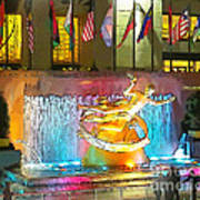 Prometheus Sculpture In Rockefeller Center  Art Print