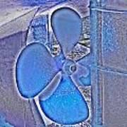 Propeller Blue Art Print