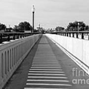 Prosser Bridge Perspective - Black And White Art Print