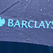 Protest At Barclays Agm Against Senior Management Pay Metal Print