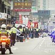 Protesters March Against Hong Kong Leader Art Print