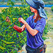 Pruning The Pinot Art Print