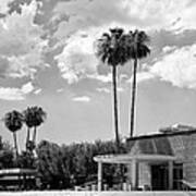 Ps City Hall Front Bw Palm Springs Art Print