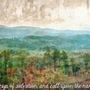 Psalm 116 13 Art Print