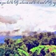 Psalm 119 123 Art Print