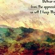 Psalm 119 134 Art Print