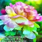 Psalm 119 77 Art Print
