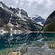 Psalm 121 With Mountains Art Print