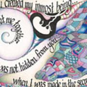 Psalm 139 Art Print