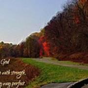 Psalm 18 32 Art Print