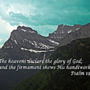 Psalm 19 1 On The Rocky Mountains Art Print