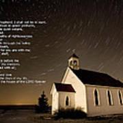 Psalm 23 Night Photography Star Trails Art Print