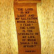 Psalm 27 Art Print by James Hammen