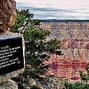 Psalm 68 - Grand Canyon Art Print