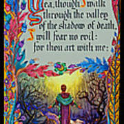 Psalms 23-4a Art Print