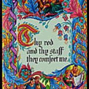 Psalms 23-4b Art Print