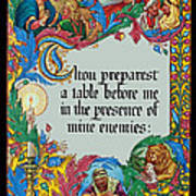 Psalms 23-5a Art Print