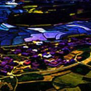 Psychadelic Aerial View Art Print