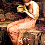 Psyche Opening The Golden Box 1903 Art Print