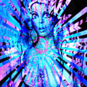 Psychedelic Barbie Art Print
