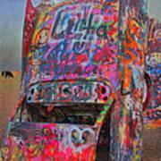 Psychedelic Cadillac Art Print