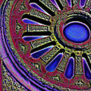 Psychedelic Church Window Art Print