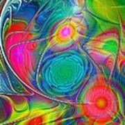 Psychedelic Colors Art Print