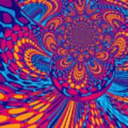Psychedelic Mind Trip Art Print