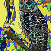 Psychedelic Owl Art Print