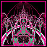 Psychedelic Rollercoaster Tunnel Fractal 65 Art Print