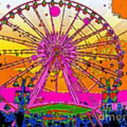 Psychedelic Sky Wheel Art Print