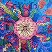 Psychedelic Squid 2 Art Print