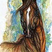 Psychodelic Chestnut Horse Original Painting Art Print
