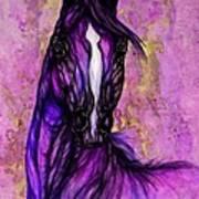 Psychodelic Purple Horse Art Print