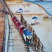 Pt Pleasant Nj Sand Train Art Print