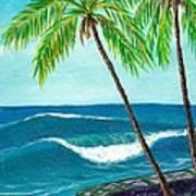 Puako Sea Wall Art Print