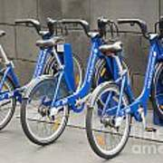 Public Shared Bicycles In Melbourne Australia Art Print